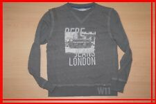 PEPE JEANS Fille 10 ans superbe sweat shirt gris bus anglais