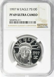 1997-W $100 One-Ounce Platinum American Eagle NGC Proof-69 Ultra Cameo