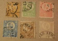 Hungary 1871 Litho Mi. 1-6 Sc. 1-6