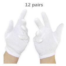 12 Pairs White Cotton General Purpose Moisturising Lining Gloves For Health Work