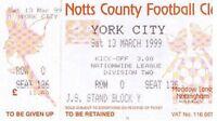Ticket - Notts County v York City 13.04.99