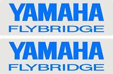 Yamaha Flybridge, 2 Colour, Fishing, Boat, Small Sticker Decal Set of 2