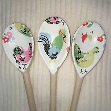 Wooden Spoon Kitchen Set Using CATH KIDSTON Hens Design Mother's Day Gift