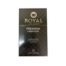 Royal Latex Condoms Premium Lubricated - Chocolate 10-Pack