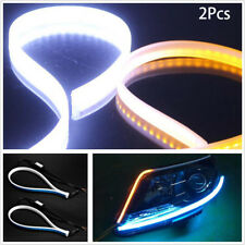 60cm Ultra Thin Car Soft Tube LED Strip Daytime Running Light Turn Signal Lamp~