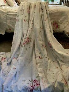 """Maison Light Weight Curtains Pastel Patchwork Florals 66""""w x 72""""l + Tie Backs"""