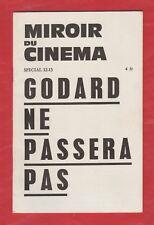 Miroir du Cinéma Spécial 12-13 Godard ne passera pas. Rare première édition1965
