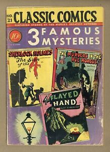 Classics Illustrated 021 3 Famous Mysteries 1A GD 2.0 1944