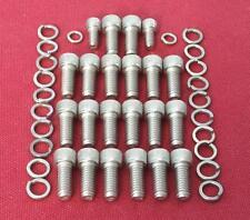 CHEVROLET BB 402 427 454 COPPA OLIO Kit bullone con testa di tappo in acciaio