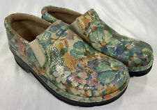 Klogs Floral Shimmer Gloss Sz 7M Non-Marking & Slip Resistant Clogs Shoes