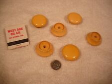 6 white (now cream corn) Bakelite furniture knobs from estate