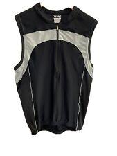 Zoot Mens Tri Tank Top M Black Compression Triathlon Sleeveless Shirt
