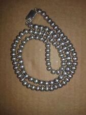 cadena collar de bolas de plata unisex