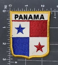 Panama National Country Flag Patch Shield Crest Ensign Canal Central America Pcz