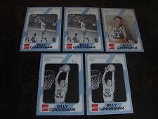 1989 North Carolina--Coca-Cola--Basketball--Billy Cunningham--Lot Of 5--NrMt