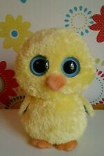 """Rare Ty Beanie Boo Boos GOLDIE Chick Yellow Soft Toy 9"""" MEDIUM Easter"""