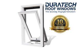 Duratech (Rooflite) Roof Window Skylight 550 x 780mm White uPVC Inc. Flashing
