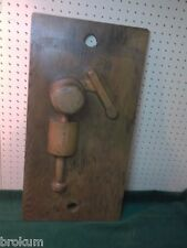 "Unusual Interesting Wood Foundry Industrial Pattern Mold 14"" X 27-1/2"" ON 1"" BD"