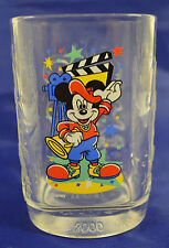 Disney Mickey Mouse McDonalds 2000 Square Glass Cups Limited Edition #M1