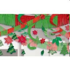 28pc red green WOW Christmas Holiday Foil Metallic Ceiling Party decorations