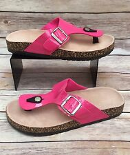 Ladies Pink Chunky Toe-Post Sandals / Flip-Flops Size 4 New
