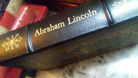 ABRAHAM LINCOLN by Carl Sandburg Easton Press Leather Library of Presidents