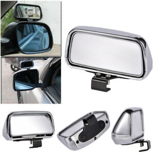1pc Silver HD Car Van Adjustable View Blind Spot Wide Angle Rear Mirror #079