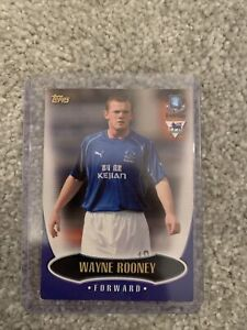 WAYNE ROONEY ROOKIE CARD TOPPS PREMIER GOLD 03 EVERTON 2002-03
