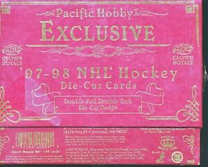 1997/98 PACIFIC CROWN ROYALE EXCLUSIVE SEALED HOCKEY HOBBY BOX TORN SHRINK WRAP