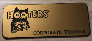 HOOTERS Uniform Pin Waitress Bartender Costume TRAINER GET YOUR NAME Blank TAG