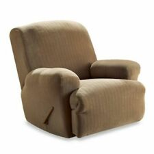 Sure Fit Stretch Ribbed Recliner Slipcover in Brown
