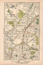 1933 LONDON MAP-MILL HILL EAST FINCHLEY CHURCH END HAMPSTEAD GDN SUBURB HOLDER'S