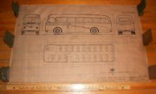 1953 Original Ink Drawing Bus Design Blueprint Duple Motor Bodies Ltd Coach