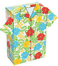 Pack of 12 - Hawaiian Shirt Party Treat Favour Boxes - Luau Party Box Favours