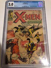X-MEN #1 CGC 3.0 X-Men Origin 1st Appearance KEY GRAIL 9/1963 Marvel Comic LOOK