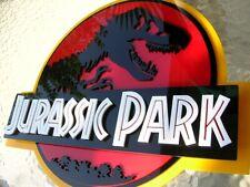 JURASSIC PARK 3D ART sign new 3-D Raptor TRex T-Rex Dinosaur  fossil 18 inch