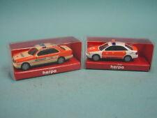 Herpa 1:87 2x Notarzt 043892 MB E200 + 044004 Audi A4 /TOP+OVP