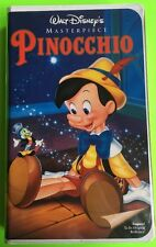 WALT DISNEY MASTERPIECE PINOCCHIO VHS (239-2) 90's PLAYED ONCE