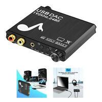 192 kHz DAC Digital Analog Audiokonverter, USB zu Optik Koaxial Toslink, Plug