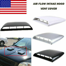 Universal Decorative Air Flow Intake Hood Scoop Vent ABS Bonnet Cover For Car