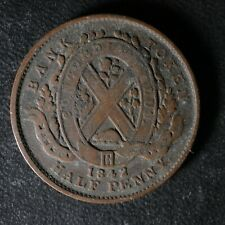 PC-1A2 Halfpenny 1842 token Province of du Canada Montreal Breton 527
