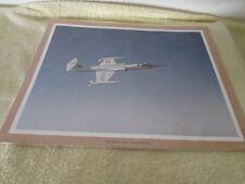 Vintage Lockheed F-104 Starfighter Aircraft  Photo 11x14
