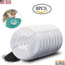 8Pcs Pet Water Fountain Filter Activated Carbon Dog Cat Water Feeder filter