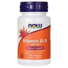 Now Foods Vitamina D-3 400IU 180 cápsulas para los huesos fuertes & la Salud Dental 3