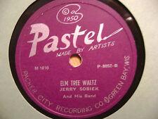 PASTEL 78 RECORD/ JERRY SOBIEK/ JO JO POLKA/ ELM TREE WALTZ/ EX  /GREEN BAY ,WI