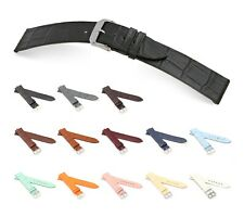 "RIOS1931 Alligator Style Watch Band ""Miami"", 16-20 mm, 13 colors, new!"