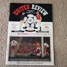 Man United Review Vol 45 No.11 v Watford Played 19/11/1983