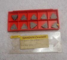 SANDVIK    CARBIDE INSERTS    R166G-3BL180     PACK OF 10     GRADE  S1P