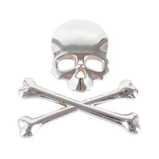 1x 3D Skull CrossBones Emblem Fit for Car Truck Motor Decal Badge Sticker