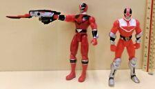 Power Rangers Time Force Figures x2 Quantum Ranger Red Ranger